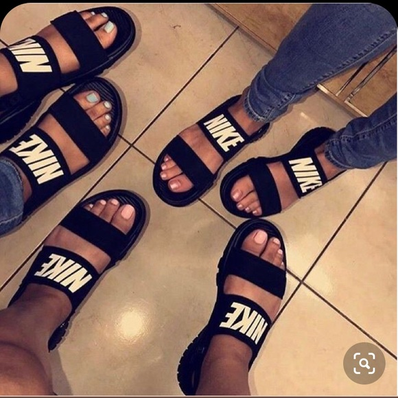 Black Nike Tanjun Sandal   Poshmark